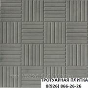 Тротуарная плитка «Мелкий паркет» 300x300x30 СЕР.