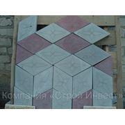 Тротуарная плитка «Ромб», цвет серый фото