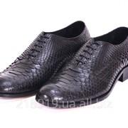 Мужские элитные питоновые туфли чб фото