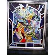 Картина на стекле Благовіщення. фото