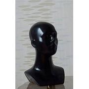Манекен головы женский,цвет черный Г-203(черн) фото
