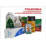 Упаковка из ламинированной и фольгамированной бумаги для розлива жидких пищевых продуктов фото