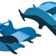 Мебель детская игровая, Качалка-лесенка Дельфин Д-135 фото