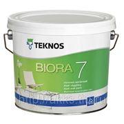 Водоразбавляемая акрилатная матовая краска Biora 7, 0,9л Teknos фото