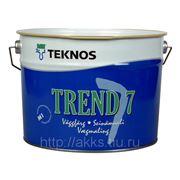 Водоразбавляемая акрилатная матовая краска Trend 7, мат. 2,7л, Teknos фото