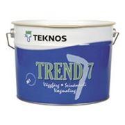 Водоразбавляемая акрилатная матовая краска Trend 7, мат. 9л, Teknos фото