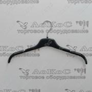 Пластиковая вешалка для блузок L=400мм H=11мм, черный, GN40 фото
