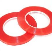 Скотч двусторонний прозрачный 3M с красной защитной лентой ширина 3мм 25м фото