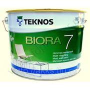 Водоразбавляемая акрилатная матовая краска Biora 7, 9л Teknos фото