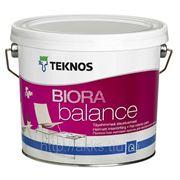 Водоразбавляемая акрилатная матовая краска Biora balance 0,9л Teknos фото