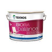 Водоразбавляемая акрилатная матовая краска Biora balance 9л Teknos фото