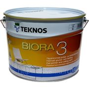 Водоразбавляемая акрилатная матовая краска Biora 3, 9,0л Teknos фото