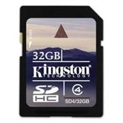Карта памяти Kingston SDHC 32 GB Class 4 фото