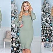 Платье женское с чокером (3 цвета) - Ментол ТК/-6015 фото