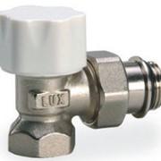 Кран для радиатора LUXOR термостат. УГЛОВОЙ 1/2' с EPDM кольцом (под термост. головку RTL) фото