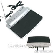 431123 Коврик для мыши с FM радио и 4-USB hub, пластик серебро фото