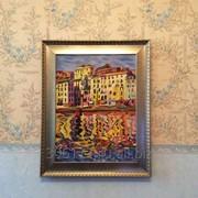 Копия картины Огюста Эрбена Причалы порта Бастиа фото
