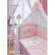 Набор в кроватку ЛАПУШКИ, 8 предметов фото