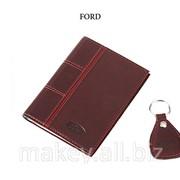 Обложка для водительского удостоверения с брелком FIAT, 065-07-52 фото