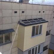 Монтаж, ремонт балконной крыши в Алматы! фото