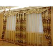 Шторы для гостиной; оформление окна фото