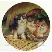 """Тарелка настенная 20см """"Котята"""" фото"""