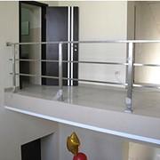 Ограждения из нержавеющей стали, Перила балконные фото