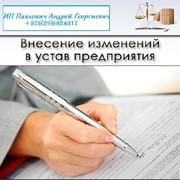 Сопровождение внесения изменений в устав фото