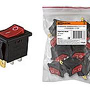 Клавишный переключатель YL-211-02 черный корпус красная клавиша 2 положения 1з TDM фото