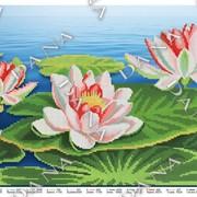 Схема для частичной вышивки бисером Водяные лилии фото