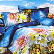 Комплект постельного белья сатин 3Д фото