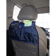 Защитная накидка на спинку переднего сиденья с карманами (Виталфарм) фото