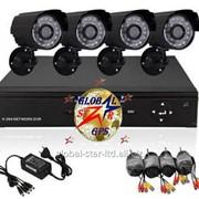 Комплект видеонаблюдения на 4 камеры - под ключ фото