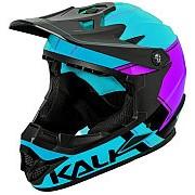 Шлем Full Face DOWNHILL/BMX ZOKA Gls Blu/Prp/Blk 12отверстий 56-57см, голубой-черный KALI фото