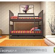 Кровать Трансформер-4 Массив ДУБ фото