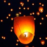 Небесный фонарик желания 6 цветов овальный 85.43 см фото