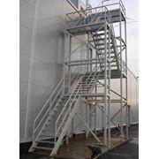 Изготовление и монтаж металлоконструкций галерей, эстакад и т.д. фото