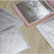 Сусальное серебро свободное и трансферное фото