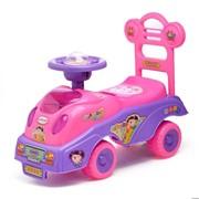 Толокар «Машинка для девочки», с музыкой, цвет розовый фото