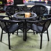 Стол+4 стула искусственный ротанг, код: meb40 фото
