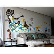 Роспись стен и потолков в интерьере фото