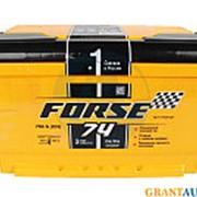 Аккумуляторная батарея FORSE 6СТ74 LB обратная низкая фото