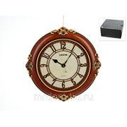 """Часы настенные """"кракелюр"""" 46*5*46см. (d=30см. батарейка-1""""aa"""") (с декоративными стразами) (подарочная упаковка) (861176) фото"""