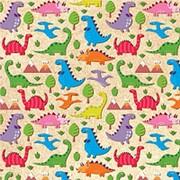 "Упаковочная бумага Миленд ""Динозаврики"", 1 лист, 70 х 100 см., 90 г/м2, УБ-8126 фото"