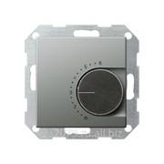 Терморегулятор с размыкающим контактом Gira коллекция E22, G39020, сталь фото