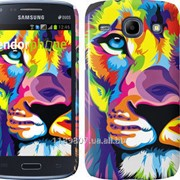 Чехол на Samsung Galaxy Core i8262 Разноцветный лев 2713c-88 фото