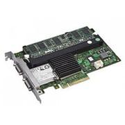FY374 Контроллер SAS RAID Dell PERC 6/E 512Mb BBU Ext-2xSFF8470 8xSAS/SATA RAID60 U600 PCI-E8x фото