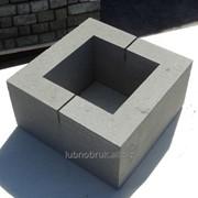 Блок бетонный столбовой серый фото
