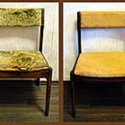 Перетяжка стульев со спинкой фото