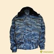 Куртка зимняя П-1 ткань синий камыш фото